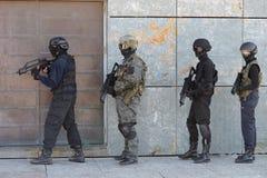 警察特种部队训练  免版税库存图片
