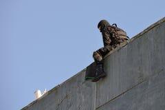 警察特种部队训练  免版税图库摄影