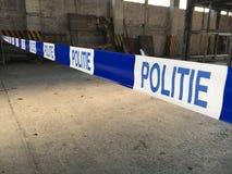 警察犯罪现场磁带 免版税库存图片