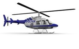 警察用直升机端 免版税库存图片