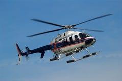 警察用直升机 免版税库存照片