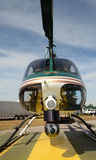 警察用直升机正面图 免版税图库摄影