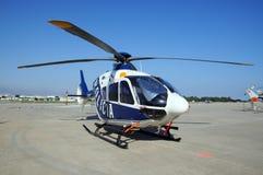警察用直升机,西班牙 库存照片