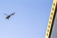 警察用直升机 免版税库存图片
