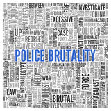 警察的残酷行为概念词标记云彩设计 皇族释放例证