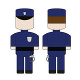 警察的逗人喜爱的简单的动画片 免版税库存照片