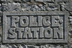 警察签字 免版税库存照片