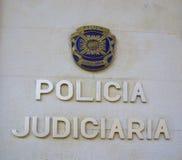 警察签字 免版税图库摄影