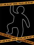 警察线与尸体踪影的犯罪现场 皇族释放例证