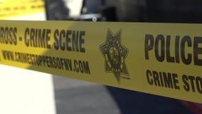 警察线犯罪现场-不要横渡磁带-美国2017年 影视素材