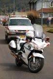 警察自行车 库存图片