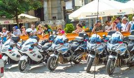 警察自行车 库存例证