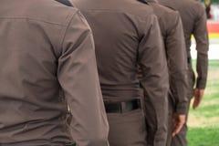 警察荡桨 库存照片