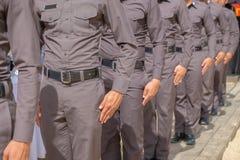 警察荡桨 库存图片