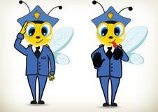 警察蜂 免版税图库摄影