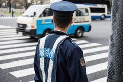 警察观看的交通 库存照片