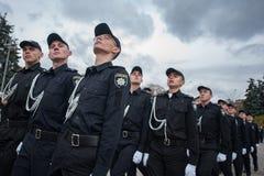 警察誓言 库存图片