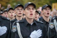警察誓言 免版税库存图片