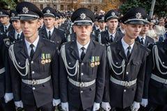 警察誓言 库存照片