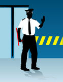 警察说终止 免版税库存照片