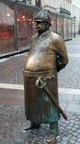 警察雕象在布达佩斯 库存照片