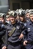 警察暴乱土耳其 免版税图库摄影