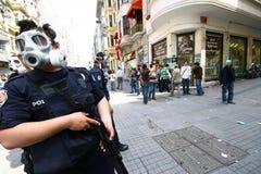 警察暴乱turkis 库存照片