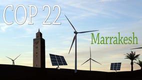 警察22在马拉喀什,摩洛哥 免版税库存图片