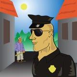 警察 库存例证