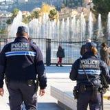 警察municipale 免版税图库摄影