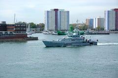 警惕的HMC 英国边防船 图库摄影