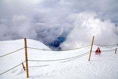 警报信号瑞士阿尔卑斯山 库存图片