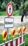 洪水警报信号 免版税库存照片