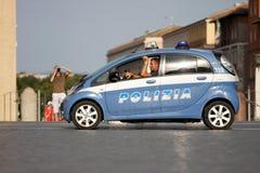 警车在罗马(梵蒂冈)的中心 库存照片