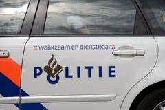 警车在阿姆斯特丹 库存图片