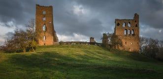 警长赫顿城堡-英国城堡废墟 库存图片