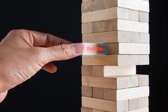 计划、风险、解答和战略在事务 库存图片