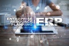 计划企业和技术概念的企业资源 免版税库存图片