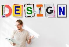 计划创造性概念的设计创造性的想法 库存照片