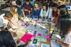 计划创造性的类图书馆实习教师想法概念 免版税图库摄影