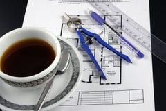计划咖啡统治者 免版税图库摄影