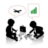 计划商务旅游的婴孩 库存例证