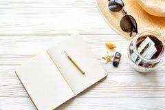 计划夏天旅行概念和旅行癖,文本的空间 e 免版税库存图片