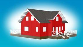 计划小红色房子动画的建筑 库存例证