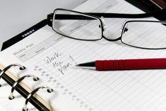 计划工作 免版税库存图片
