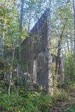 计划布查德工业体系,魁北克,加拿大Ruines  库存图片