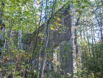 计划布查德,魁北克,加拿大Ruine  库存照片