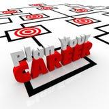 计划您的事业靶位Org图被瞄准的工作 库存照片