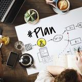 计划战略管理目标象概念 免版税库存照片