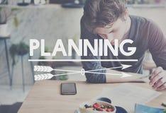 计划战略视觉战术操作计划概念 免版税库存图片